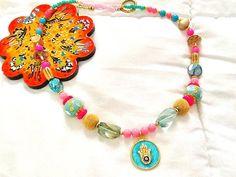 SALE BOLLYWOOD GYPSY Necklace  Bohemian Necklace 22k by Nezihe1
