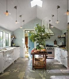 interior, floor, sag harbor, hous, place, homes, subway tiles, light, dream kitchens