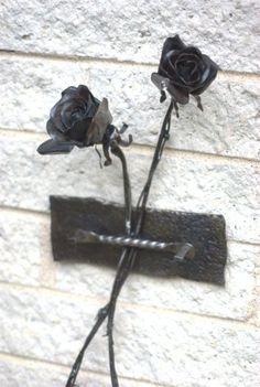 metal rose sculptures