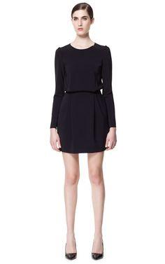 STUDIO DRESS WITH TUCKS ON THE SHOULDER - Dresses - Woman | ZARA Canada