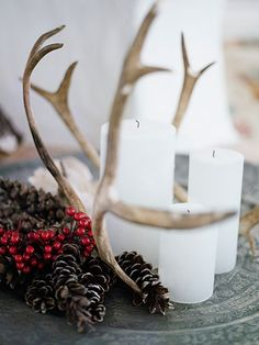 Nordic Bliss #antler #pinecone #candles