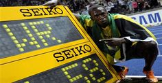 In world record, Usain Bolt triumphed over air!