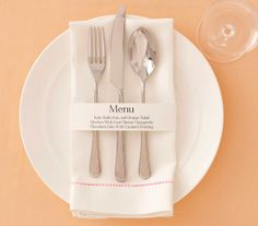 How to make a DIY menu ring—an unexpected, impressive touch.