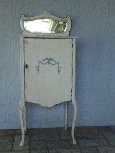 Antique Music Cabinet Annie Sloan Paint Cottage Chic Jewelry Cabinet