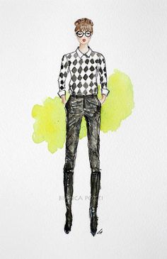 ilustração de moda | Tumblr