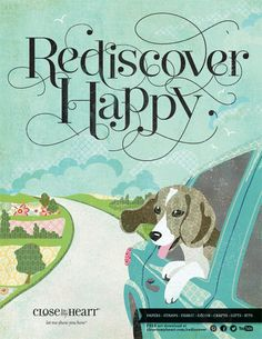Love this new ad campaign from @Close To My Heart! #rediscoverhappy www.fancymelissa.com card idea, scrapbook cards, ad campaign, favorit card