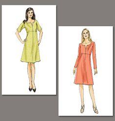 Vogue 8764 high-waist dress