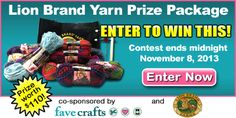 Lion Brand Yarn Prize Package Giveaway!