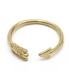 Brass arrow ring