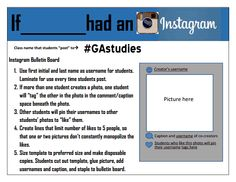 Instagram Bulletin Board- I created this version of an interactive Instagram bulletin board idea I had for my 8th grade history classroom for famous people/events. It looks like Erin Klein already had this idea and beat me to it, so it's ultimately an adaptation of her idea (I like to think great minds think alike).