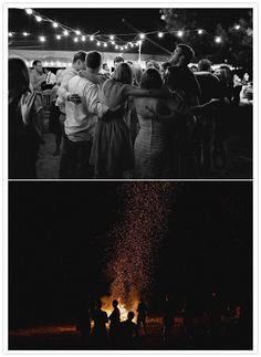 nighttime wedding bonfire - this is awesome!