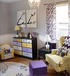 Radiant Orchid Nursery6 Radiant Orchid in a Babys Nursery  Pantone Colour of the Year 2014