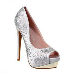Pantofi dama cu paiete Hana - Platform shoe