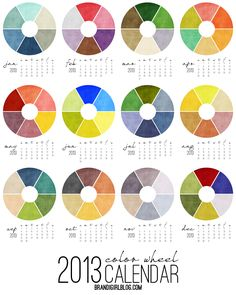 2013 Color Wheel Calendar :: Brandi Girl Blog