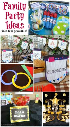 Family Party Ideas plus FREE printables #FamilyFun