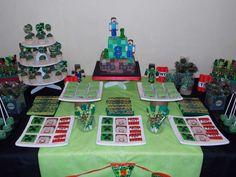 Minecraft Birthday Party Ideas | Treats Table