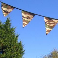 Boys Camouflage bedroom Bunting