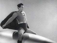 "Just 14 years before Slim Pickens in Stanley Kubrick's ""Dr. Strangelove,"" Kirk Alyn (as Superman) took a somewhat less fatal missile ride in Columbia's ""Atom Man vs. Superman,"" (Chapters 12-15). [pr]"