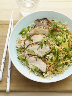 Grilled Citrus Chicken Rice Bowl.