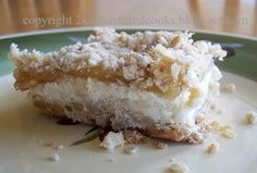 2 Kids and Tired Cooks: Apple Streusel Cheesecake Bars