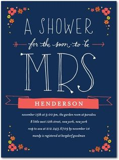 bridal shower invite...cute!
