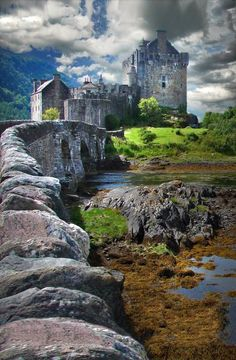 Eilean Donan Castle and bridge, Scotland