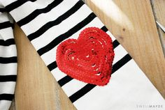 DIY for Sequin Heart Elbow Patch from @UniqueLA - heart <3