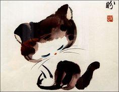 Nick Summerbell - Chinese kitten painting