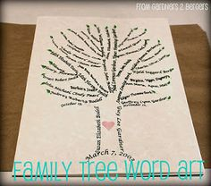What a nice an creative idea for a family tree!