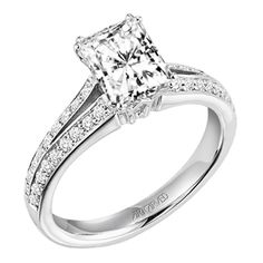 This is my wedding ring- Emerald cut by: ArtCarved
