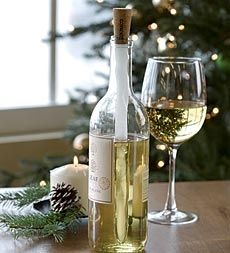Corkcicle Wine Chiller Keeps Wine Chilled Without An Ice Bucket in Holiday 2012 from Plow & Hearth