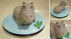 Hippo Birthday Cake - Meet William the hippo - my favourite animal cake to date :)