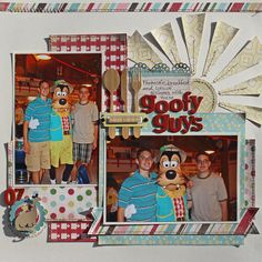 Goofy Guys *Carta Bella Homemade with Love - Scrapbook.com - Use non-themed paper for a layout about Disney breakfast.