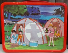 1970 The Brady Bunch Lunch Box (back)