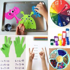 Math practice ideas using things you have at home - love these!