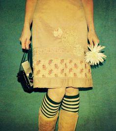 Like this patchwork skirt via madeline bea