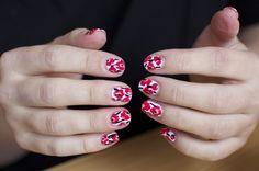 Marimekko Poppies Nail Art - Lips So Facto Beauty Blog