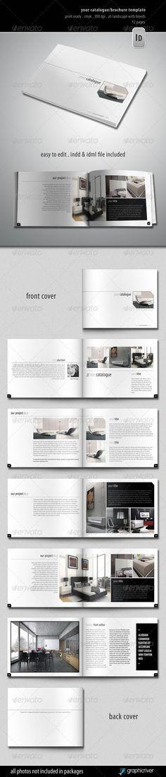 design portfolio brochure template .