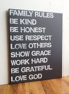 white living, artworks, word art, gifts, hous, famili rule, families, family rules, canvases