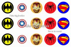 Super Hero bottlecap images