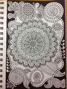 Doodle with dark bor...
