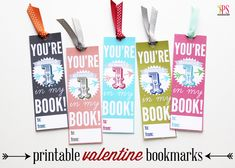FREE Printable Bookmarks: you're the number 1 on my book