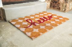 Use MDS to help make the stencil for this amazing door mat.