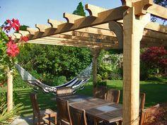 Pergola and hammock