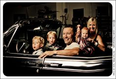Umm, this entire session is just epic. Fantastic family portrait, with a very cool car. <3