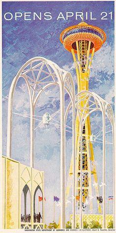 Seattle World's Fair Space Needle ad in Sunset Magazine 1962...