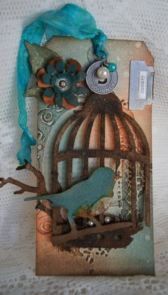 Tim Holtz inspired tag