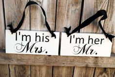 bride and groom chair signs, wedding parties, mr and mrs signs for chairs, barn weddings, reception ideas, t shirts, family signs, wedding chairs, mr and mrs chair sign