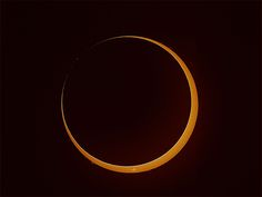"""This screengrab shows the annular solar eclipse of May 9, 2013, at the moment of the """"ring of fire,"""" visible in Australia. This online image is provided by the Coca-Cola Space Science Center in Columbus, GA."""