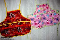 Tutorial: Sew a child's reversible craft apron